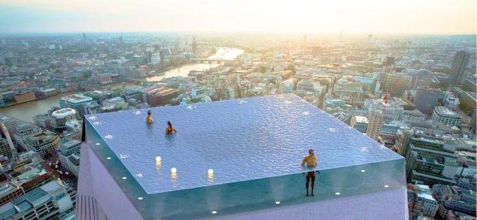 La piscina Infinity London, espectacular proyecto en lo alto de un rascacielos. POOLS CW Cantabria